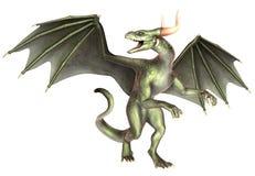 Dragon élégant sur le fond blanc illustration de vecteur