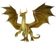 Dragon élégant sur le fond blanc Photos libres de droits