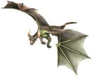 Dragon élégant sur le fond blanc Photographie stock libre de droits