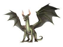 Dragon élégant sur le fond blanc illustration stock