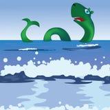 Dragon. Cute Sea Dragon, vector illustration Royalty Free Stock Images
