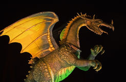 Dragon. Figure in halogen lights royalty free stock images