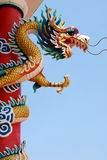 Dragon. At Chinese temple in Thailand stock images