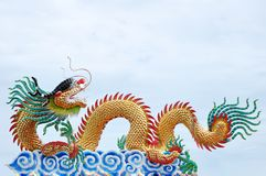 Dragon. Of chinese and white sky royalty free stock photos
