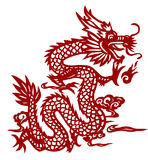Dragon. A traditional chinese papercut dragon Stock Images