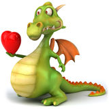 Dragon. Fun dragon, 3d generated picture Stock Images