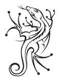 Dragon. Monochrome illustration of a dragon Stock Photography