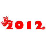 Dragon 2012. Traditional paper cut of a dragon Royalty Free Stock Images
