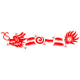 Dragon 2012. Traditional paper cut of a dragon Stock Photo