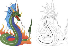 Dragon. Vector illustration of a dahger dragon Stock Photography