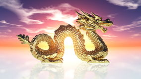 Dragon. Image of the golden dragon Stock Photography