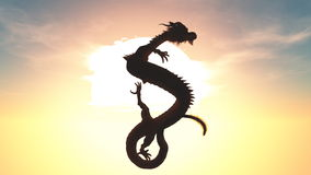 Dragon. The image of flying dragon Royalty Free Stock Photos