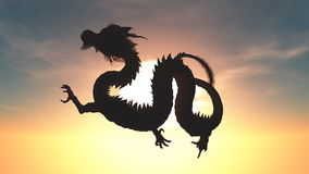 Dragon. The image of flying dragon Stock Photo