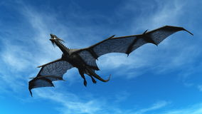 Dragon. Image of the dragon flying Stock Photography
