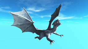 Dragon. Image of the dragon flying Stock Photos
