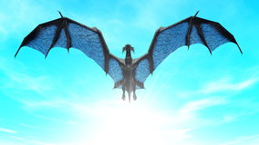 Dragon. Image of the dragon flying Royalty Free Stock Photos