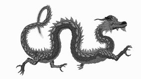 Dragon. Sideways-facing of the dragon Royalty Free Stock Images
