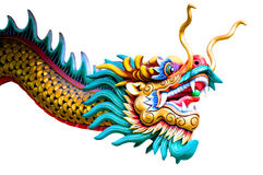 Dragon. Isolated chinese dragon on white background Royalty Free Stock Image