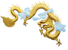 Dragon. On a white background with Clipping Part Stock Images