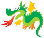 Dragon. Vector clip-art illustration of a fire-breathing dragon, on a white background Royalty Free Stock Photos