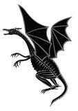Dragon. Black vector silhouette of a dragon on a white background Royalty Free Stock Photos