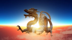 Dragon. Image of the dragon flying Stock Photo