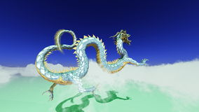 Dragon. Image of the dragon flying Royalty Free Stock Image