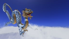 Dragon. Image of the dragon flying Royalty Free Stock Images
