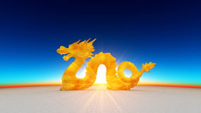 Dragon. Image of dragon and horizon Stock Images