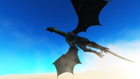 Dragon. Image of wings dragon and horizon Royalty Free Stock Images