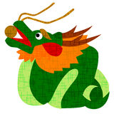 Dragon. Cute white background illustration of a dragon Stock Photos