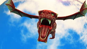 Dragon. Image of wings dragon flying Stock Photo
