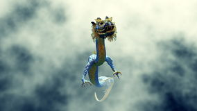 Dragon. Image of the dragon flying Royalty Free Stock Photo