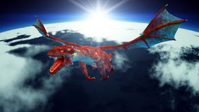 Dragon. Image of wings dragon flying Stock Photography