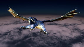 Dragon. Image of wings dragon flying Royalty Free Stock Photography