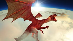 Dragon. Image of wings dragon flying Royalty Free Stock Images