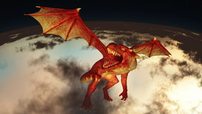 Dragon. Image of wings dragon flying Royalty Free Stock Image