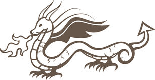 Dragon. EPS 8, vector layers are optimized for easy editing Royalty Free Stock Images