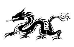 Dragon. Chinese dragon isolated on white Royalty Free Stock Images