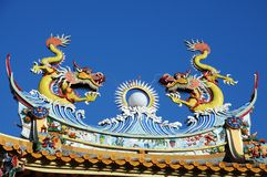 Dragon. A Colourful Statue of a Fierce Looking Dragon Royalty Free Stock Photo
