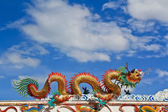 Dragon. Statue at Chinese temple in Thailand Stock Photo