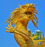 Dragon. Statue at Chinese temple in Thailand Royalty Free Stock Images