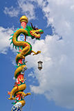 Dragon. Statue at Chinese temple in Thailand Royalty Free Stock Photo