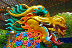Dragon. Statue at Chinese temple in Thailand Royalty Free Stock Photos