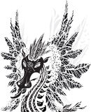 Dragon. Sample dragon silhouette on white background Stock Image