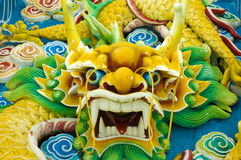 Dragon. Photo of close up of a dragon statue royalty free stock photography