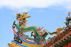 Dragon. Chinese Dragon In The Temple Stock Photos