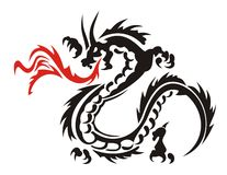 Dragon. Abstract vector illustration of Chinese dragon Stock Photography