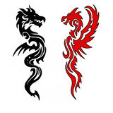 Dragon. Design Illustration picture red Royalty Free Stock Image