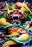 Dragon. A Colourful Statue of a Fierce Looking Dragon